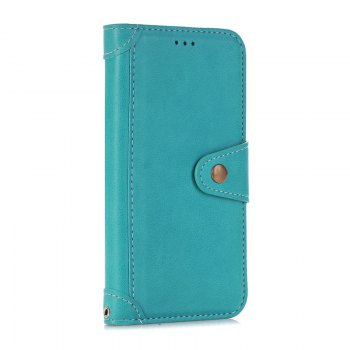 Stitching Colours Card Lanyard Pu Leather Cover for Samsung Galaxy S6 - OASIS