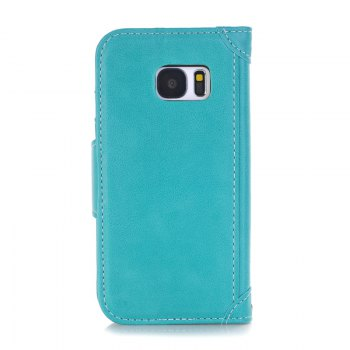 Stitching Colours Card Lanyard Pu Leather Cover for Samsung Galaxy S7 - OASIS