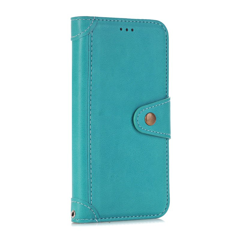 Stitching Colours Card Lanyard Pu Leather Cover for iPhone 6 Plus - OASIS