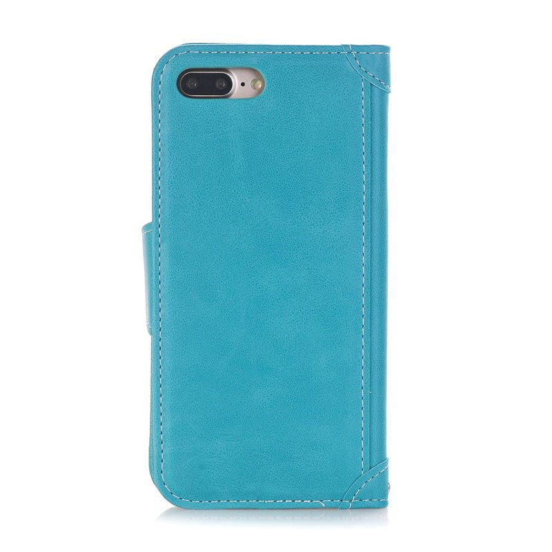 Stitching Colours Card Lanyard Pu Leather Cover for iPhone 7 - OASIS