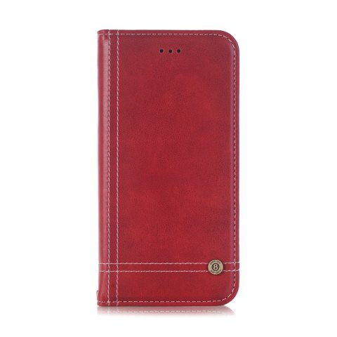 Truck Suction Line Card Lanyard Pu Leather Cover for HUAWEI P8 Lite 2017 - RED