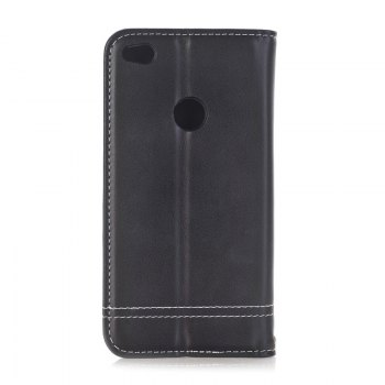 Truck Suction Line Card Lanyard Pu Leather Cover for HUAWEI P8 Lite 2017 - BLACK