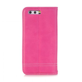 Truck Suction Line Card Lanyard Pu Leather Cover for HUAWEI P10 - ROSE RED