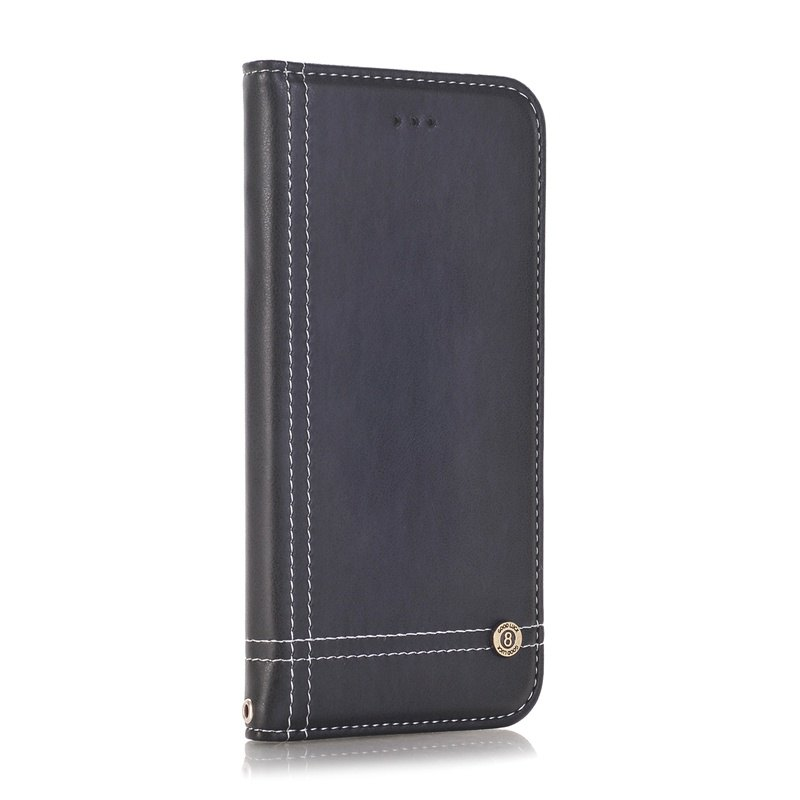 Truck Suction Line Card Lanyard Pu Leather Cover for HUAWEI P10 Plus - BLACK