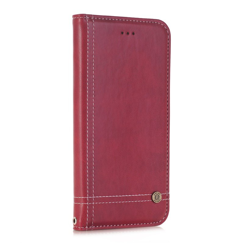 Truck Suction Line Card Lanyard Pu Leather Cover for HUAWEI P10 Plus - RED