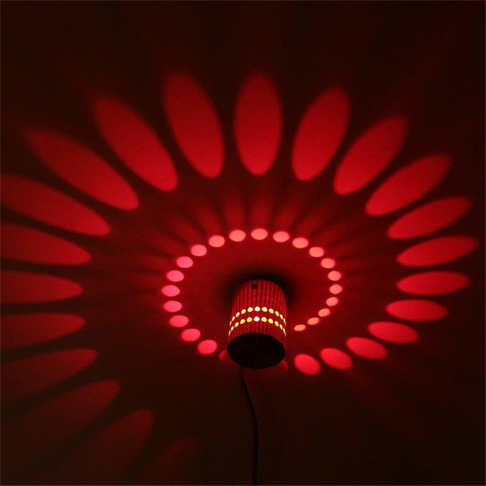 YWXLight 1W LED Wall Sconce Night Light Lamp Indoor Bedroom Decorative AC 110 - 240V - RED