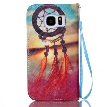 New Painted PU Phone Case for Samsung Galaxy S7 - TAN
