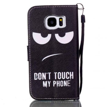 New Painted PU Phone Case for Samsung Galaxy S7 - BLACK / WHITE