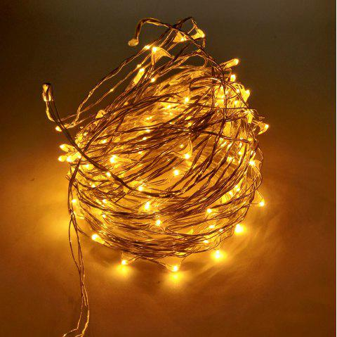ZDM 10M USB Copper Wire Waterproof LED String Light 100 LEDs for Festival Christmas Party Decoration DC5V - YELLOW