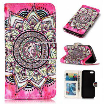 Wkae Glossy Embossed Leather Case Cover for IPhone 5 / 5S / SE