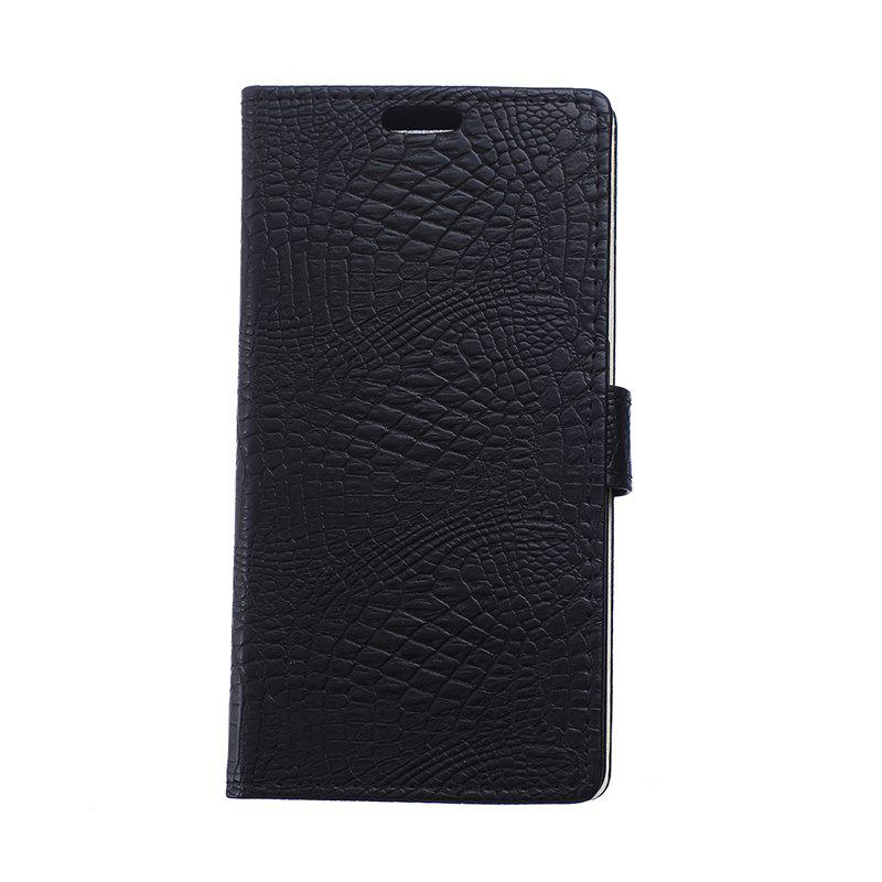 KaZiNe Crocodile Texture Wallet Stand Leather Cover for Sony Z3 Mini / Z4 Mini - BLACK