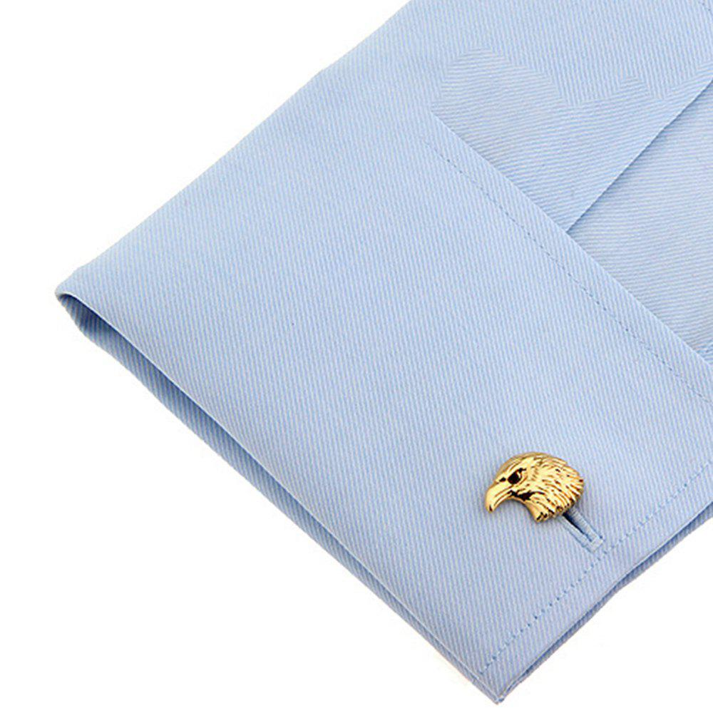 Men's Animal Series French Roasting Golden Eagle Cuff Button - GOLDEN