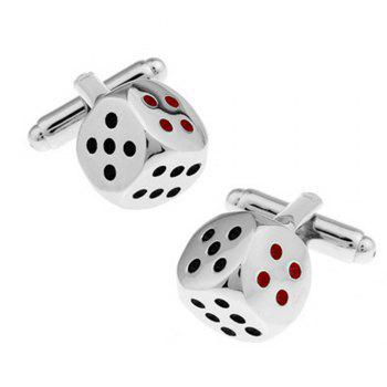 Men's Cufflinks Personality Color Block Fashionable Cuff Buttons Accessory