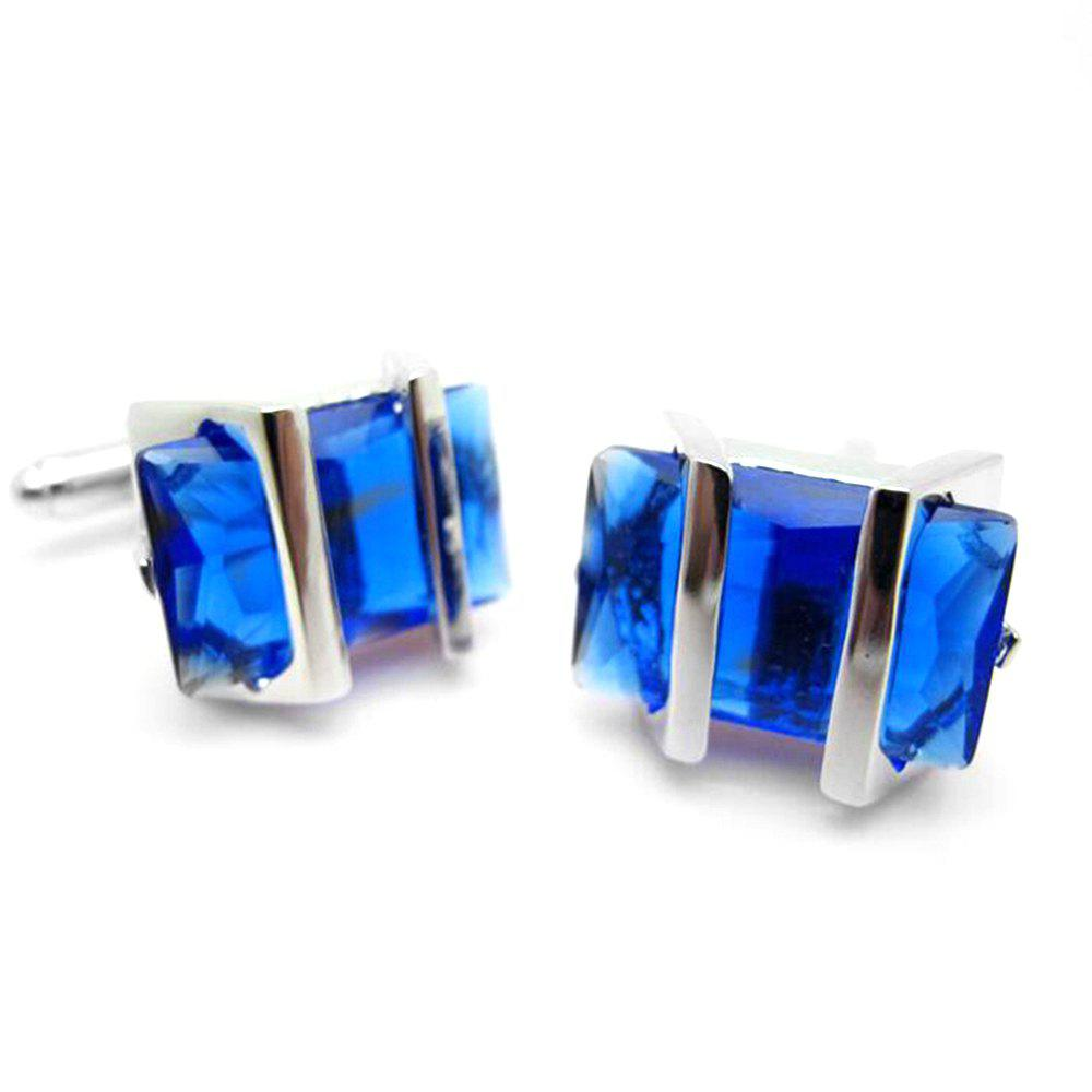 Men's Stylish High Quality Chic Cufflinks Accessory - BLUE