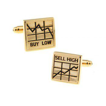Men's Letter Pattern Caving For Stock Cuff Link