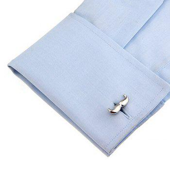 Men's Cufflinks Solid Color Personality Cuff Buttons Accessory -  SILVER