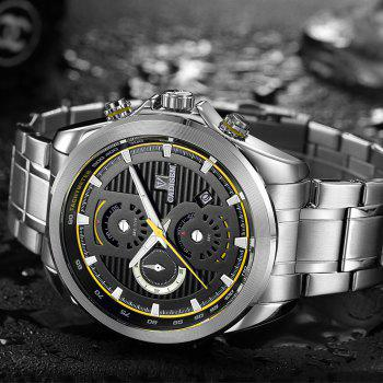 Cadisen C9051 Fashion Men Waterproof Quartz Multifunction Watch - WHITE/YELLOW