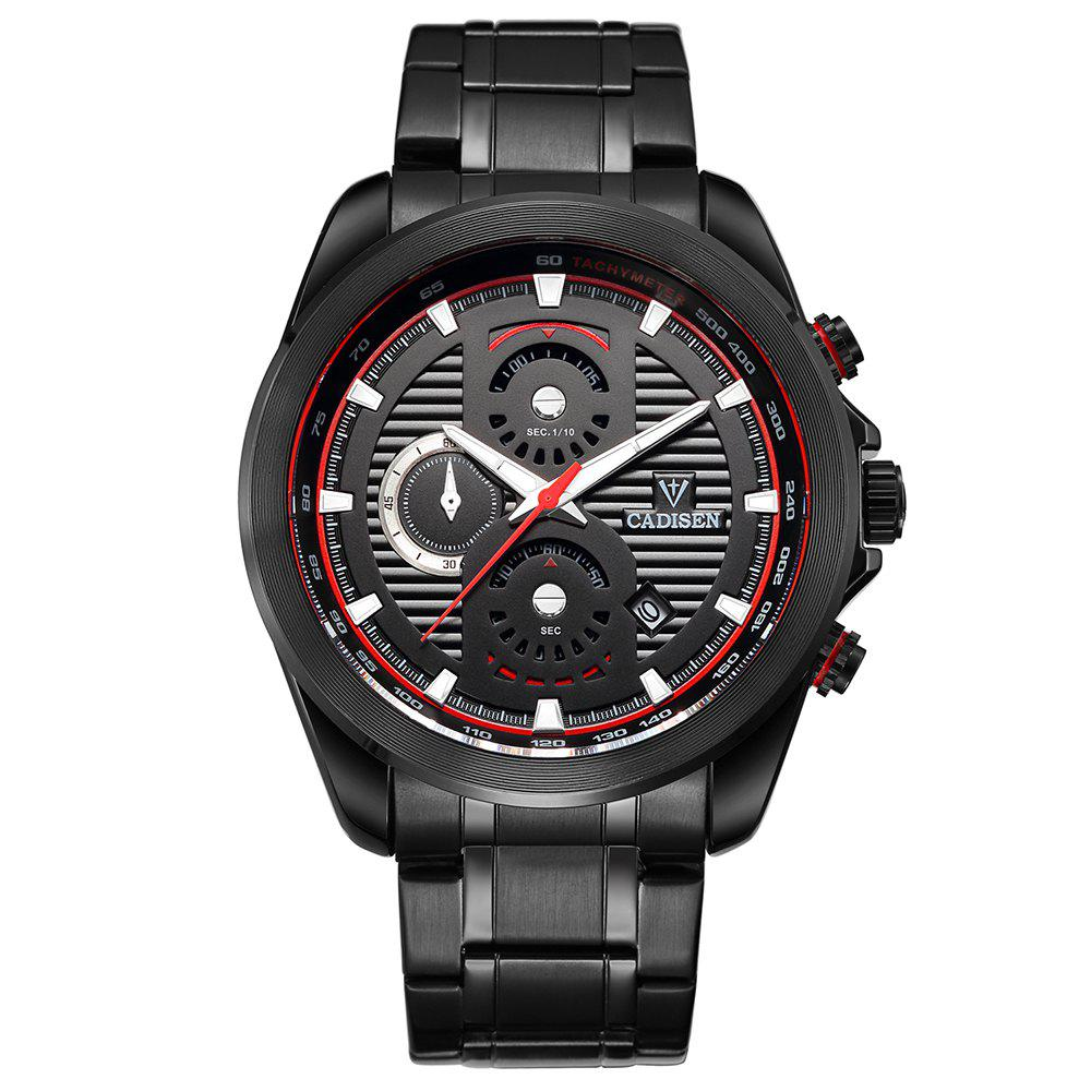 Cadisen C9051 Fashion Men Waterproof Quartz Multifunction Watch - BLACK/RED