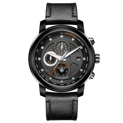 Cadisen C9052 Fashion Men Waterproof Quartz Multifunction Sports Watch - BLACK