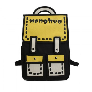 MENGHUO 3D Contrasting Colors Simple Cartoon Style