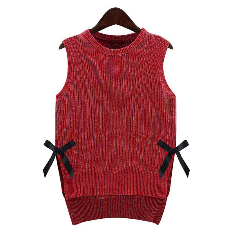 2018 New Fashion Girl Series Sleeveless Sweater Vest RED XL In ...