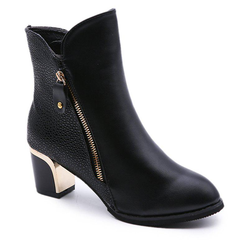 Martin New Winter  with Thick British Style Short Canister  Female Fall Side Zipper Boots