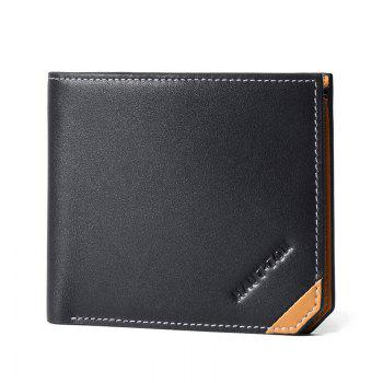 HAUT TON Genuine Leather Bifold Wallet Porte-cartes de crédit
