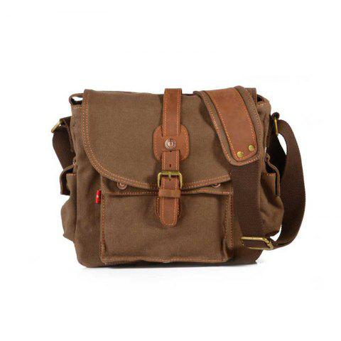 4bafcbb30885 AUGUR Fashion Men Shoulder Bag Canvas Leather Belt Vintage Military Male  Small Messenger Casual Travel Crossbody