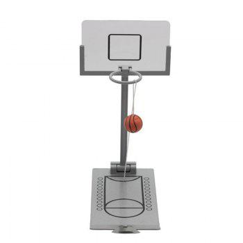 Mini Desktop Folding Basketball Machine Creative Pressure Reducing Toy - FROST HEAD SIZE: 20.5X9.5X24.5CM