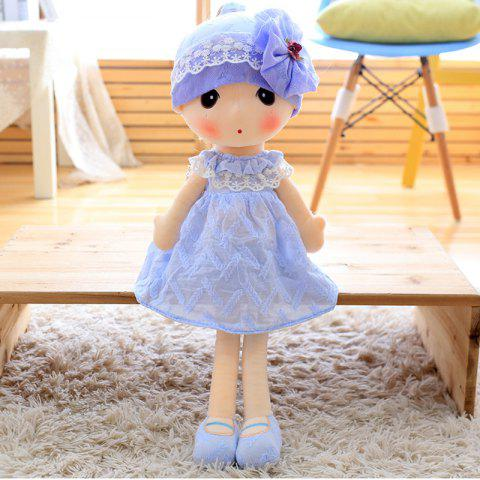 Little Girl Style Stuffed Ragdoll 40cm - PURPLE