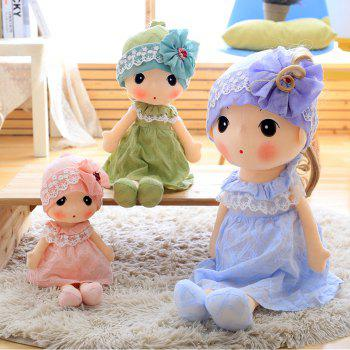 Little Girl Style Stuffed Ragdoll 40cm - GREEN