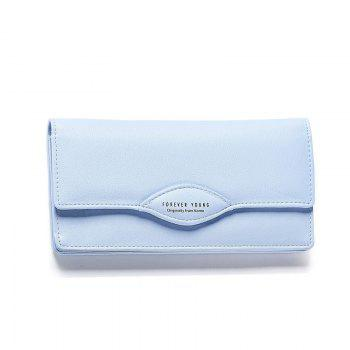Fashion Women Long Wallets PU Leather High Quality Wallet for Lady -  BLUE