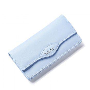 Fashion Women Long Wallets PU Leather High Quality Wallet for Lady - BLUE BLUE
