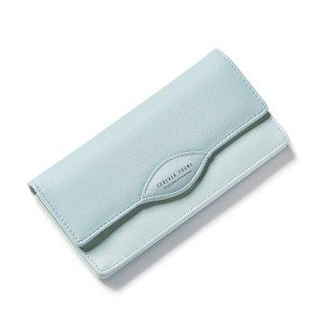 Fashion Women Long Wallets PU Leather High Quality Wallet for Lady - GREEN GREEN