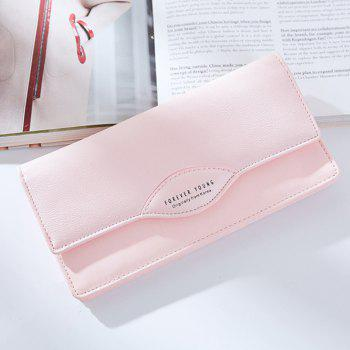 Fashion Women Long Wallets PU Leather High Quality Wallet for Lady -  PINK