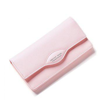 Fashion Women Long Wallets PU Leather High Quality Wallet for Lady - PINK PINK