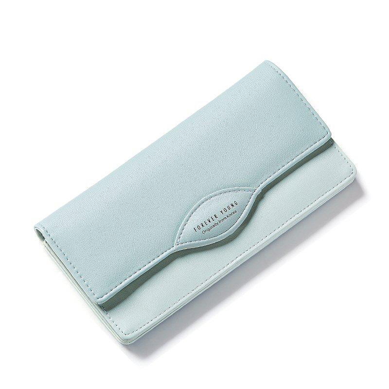 Fashion Women Long Wallets PU Leather High Quality Wallet for Lady - GREEN