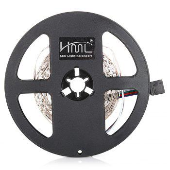HML LED Strip Light 5M 24W RGB SMD2835 300 LEDs with IR 24 Keys Remote Control DC Adapter - RGB COLOR