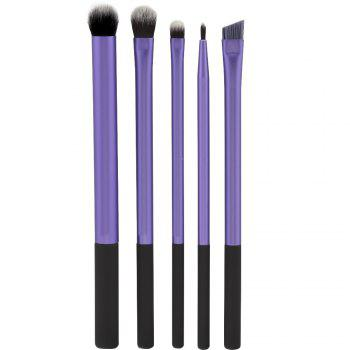 TODO Eye Brush Makeup Brushes with Case 5PCS - PURPLE PURPLE