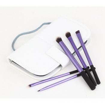 TODO Eye Brush Makeup Brushes with Case 5PCS -  PURPLE