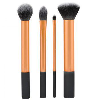 TODO Face Definition Makeup Brushes with Case 4PCS - GOLDEN GOLDEN