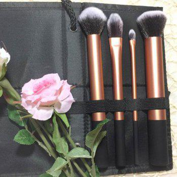 TODO Face Definition Makeup Brushes with Case 4PCS - GOLDEN
