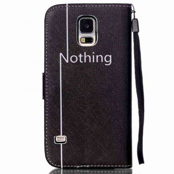 High-Grade Painted PU Phone for Samsung Galaxy S5 -  BLACK