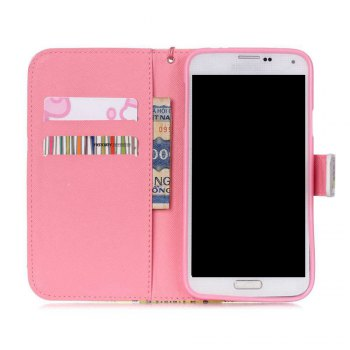 High-Grade Painted PU Phone for Samsung Galaxy S5 -  PINK