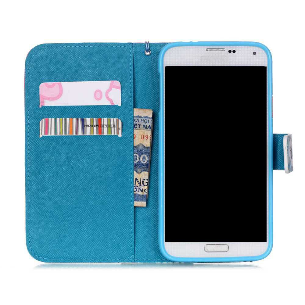 High-Grade Painted PU Phone for Samsung Galaxy S5 - BLUE VIOLET