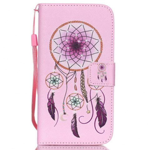 High-Grade Painted PU Phone for Samsung Galaxy S5 Mini - PINK