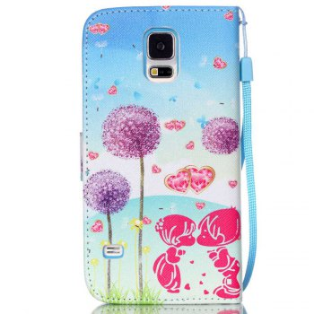 High-Grade Painted PU Phone for Samsung Galaxy S5 Mini -  BLUE VIOLET