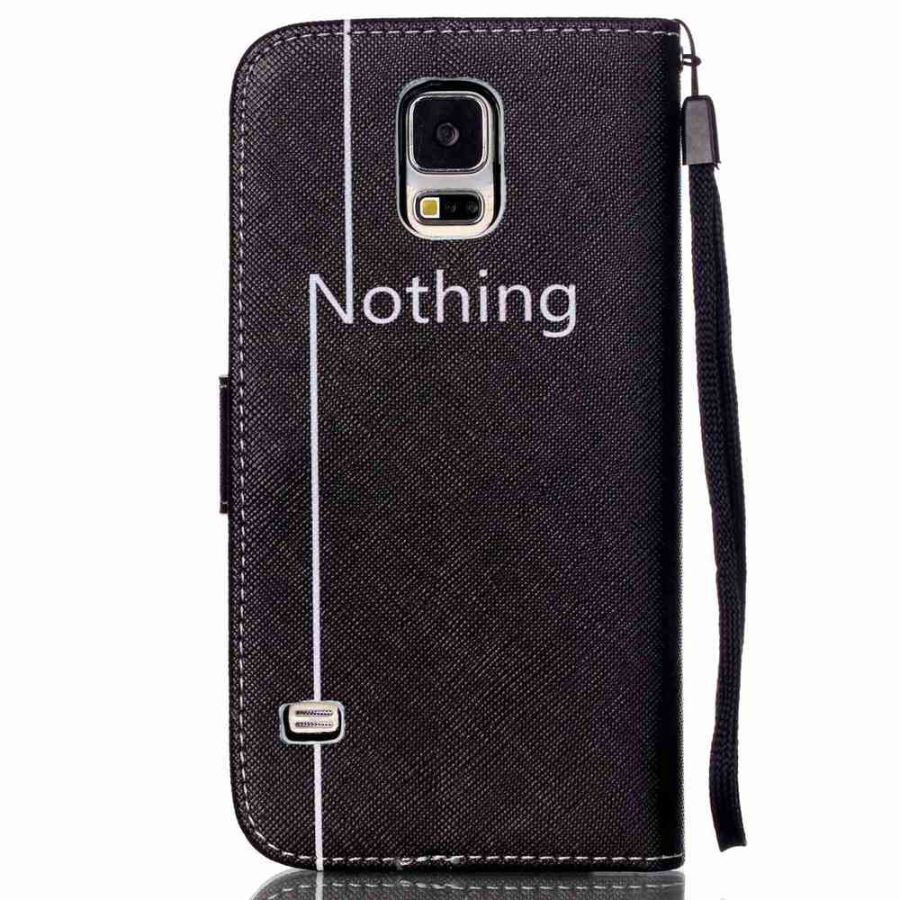 High-Grade Painted PU Phone for Samsung Galaxy S5 Mini - BLACK