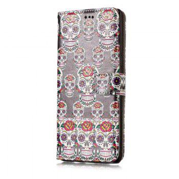 Wkae Glossy Embossed Leather Case Cover for Samsung Galaxy NOTE 8 - BLACK/WHITE/PURPLE