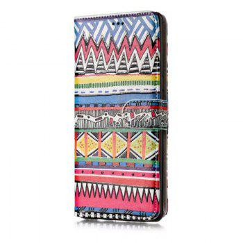 Wkae Glossy Embossed Leather Case Cover for Samsung Galaxy NOTE 8 - ROSE RED / BLUE